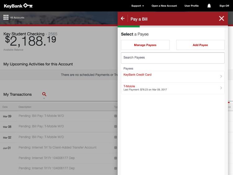 KeyBank App for iPad
