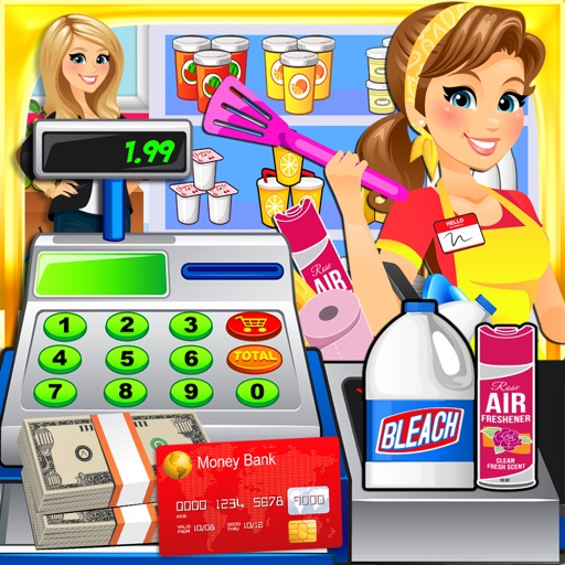Supermarket Dollar Store Cashier - Kids Cash Register & Shopping Games FREE