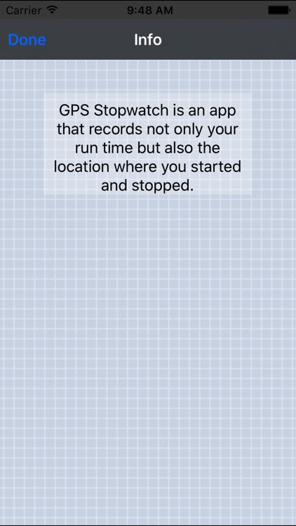 GPS Stopwatch
