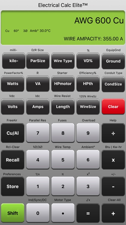 Electrical Calc Elite NEC Code Calculator screenshot-3