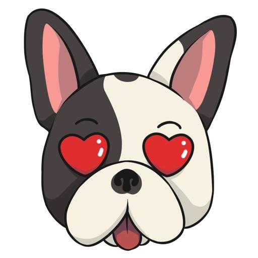 FrenchieMoji - French Bull Dog Emojis & Stickers