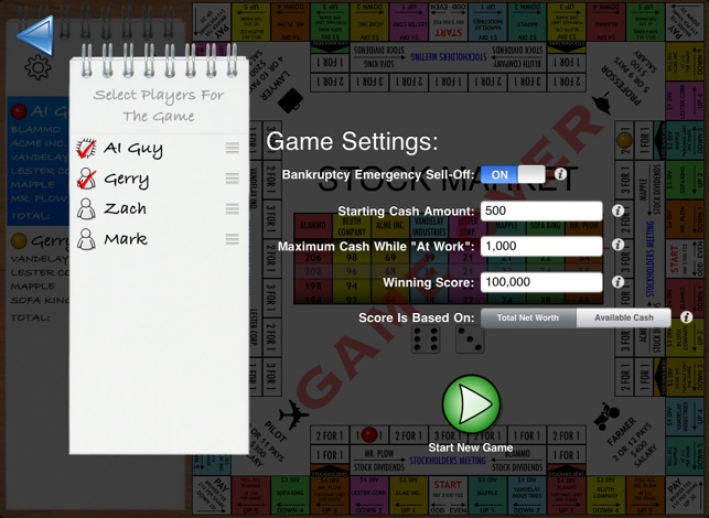 how to play stock market board game