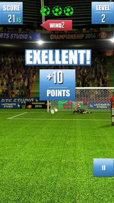 Fußball Freistoß Weltmeisterschaft - Fußball-SpielScreenshot von 4