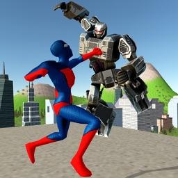 Strange Hero vs Robot X
