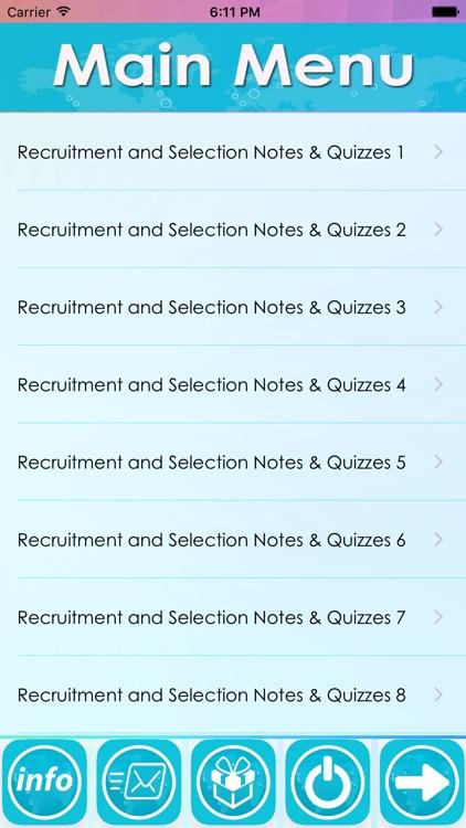 Recruitment  & Selection- 2000 Study Notes & Quiz