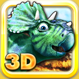Dinosaurs walking with fun 3D puzzle game in HD