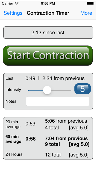 Labour and Contraction Timer