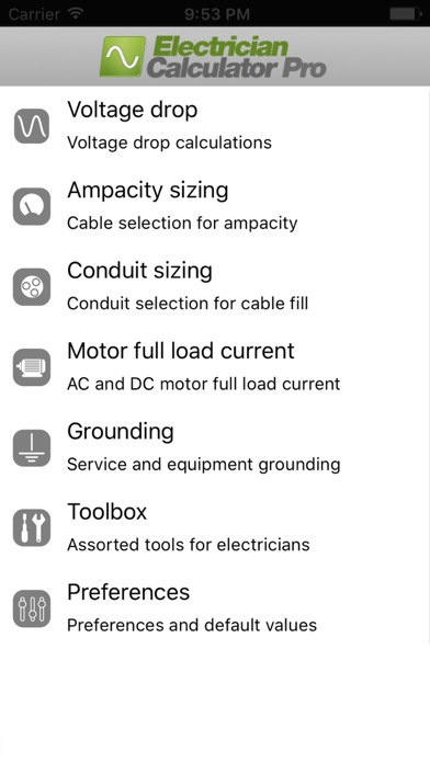 Electrician Calculator Pro App Report on Mobile Action - App Store