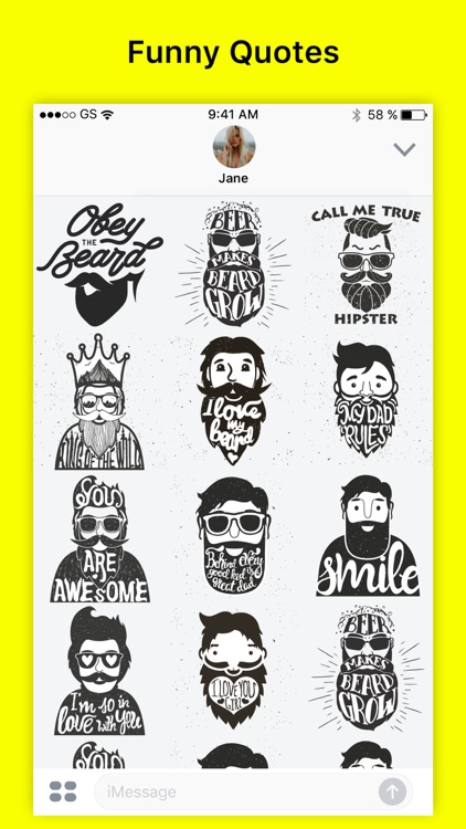 Beardo - Funny Beard Stickers Quote Comic & Emoji