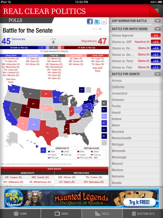 Real Clear Politics for iPad screenshot-4