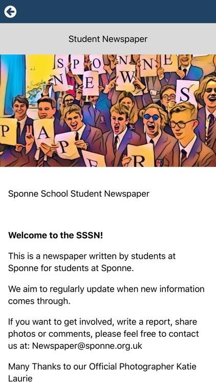 Sponne School Newspaper