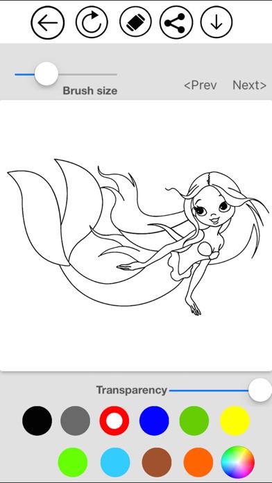 Mermaid Coloring screenshot 2