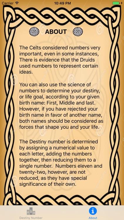 Destiny Numbers
