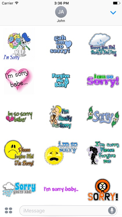 Animated Sorry & Thank You & Miss You GIF Stickers by Kruti Viradiya