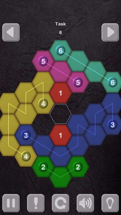 Color Lines. Hexagon screenshot-4