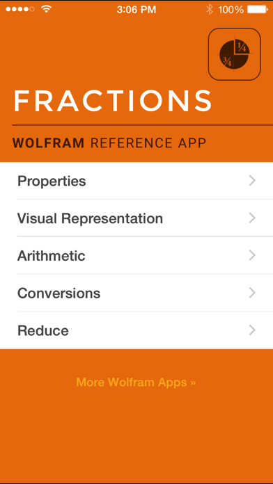Wolfram Fractions Reference App screenshot one