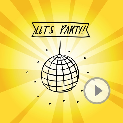 Animated Cute Party Stickers