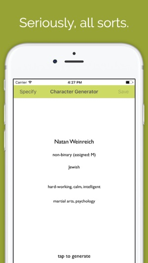 Character Generator on the App Store