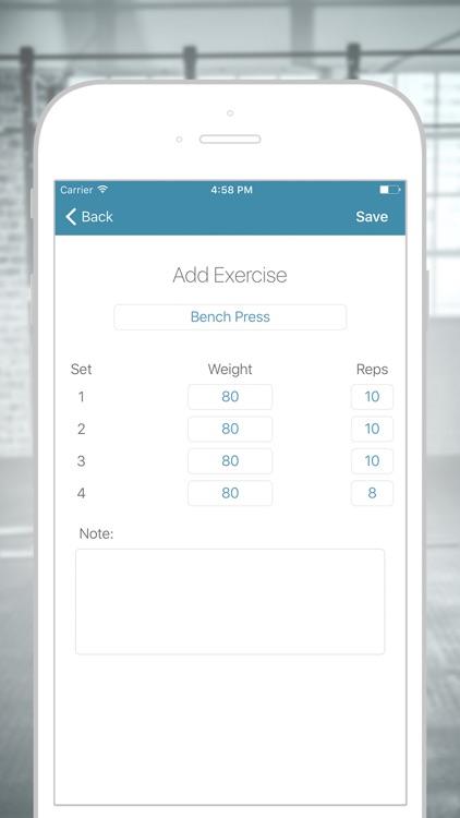 GymLog - Simple Workout Fitness Tracker screenshot-3