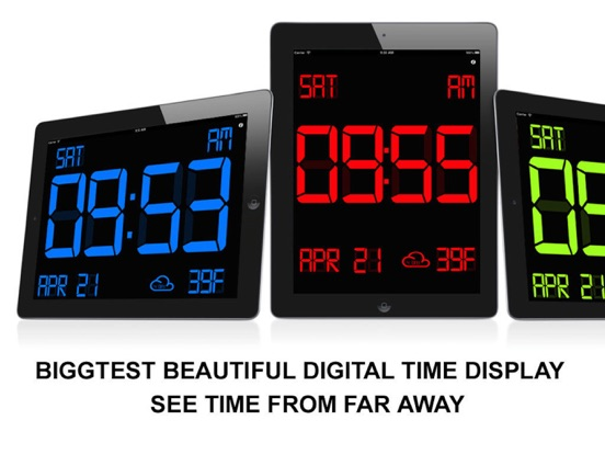 Screenshot #1 for iDigital Big2 Alarm Clock - Biggest Time Display