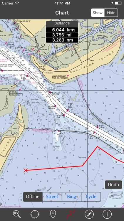 North Carolina & South Carolina – Raster Nautical