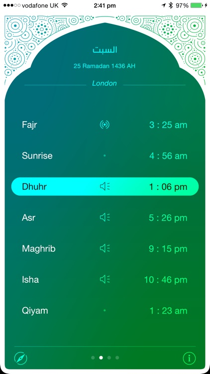 iPray: Prayer Times & Qibla Compass screenshot-1