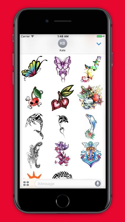 TattooMoji - 100 Best Tattoo Stickers And Emojis screenshot-3
