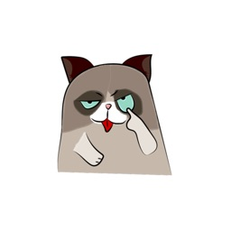Grumpmoji - grumpy cat emoji stickers