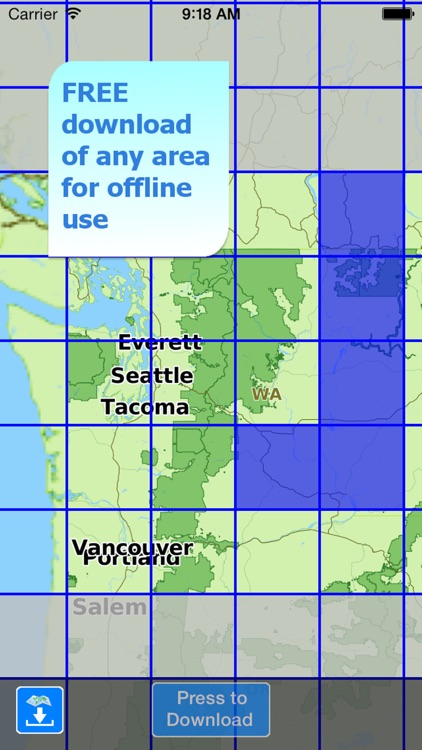 Aqua Map Washington WA Lakes HD - Nautical Charts screenshot-4