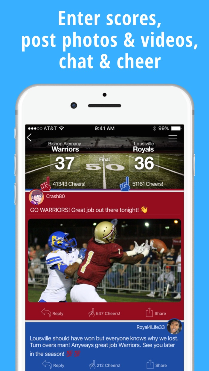 ScoreStream Sports Scores Screenshot