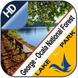 George - Ocala offline chart for lake & park trail