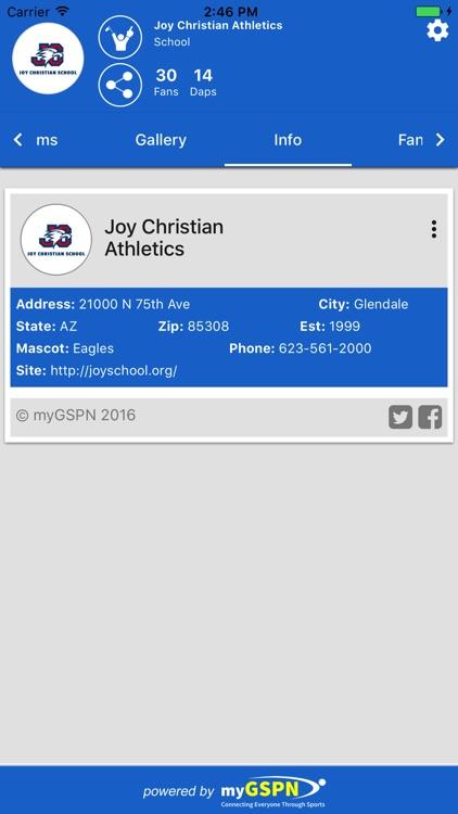 Joy Christian Athletics screenshot-3