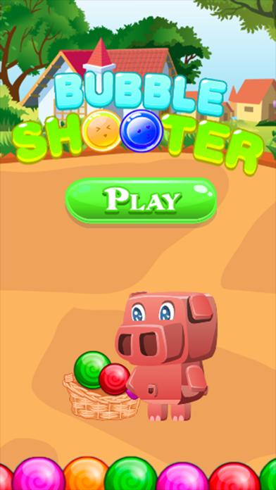 Pinky Pig Bubble Shooter screenshot one