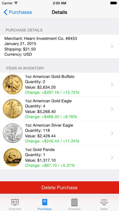 Gold Tracker review screenshots