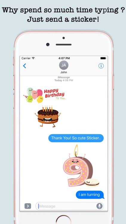 Birthday Wishes Cakes & Candles Emojis screenshot-4