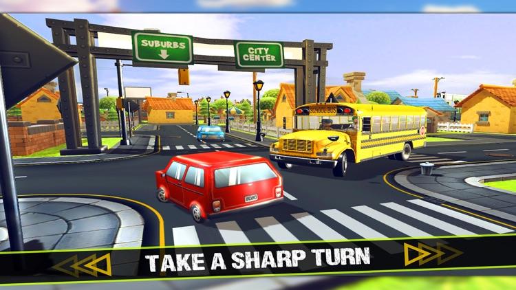 Kids School Bus - Driver Simulator 3D Game screenshot-3