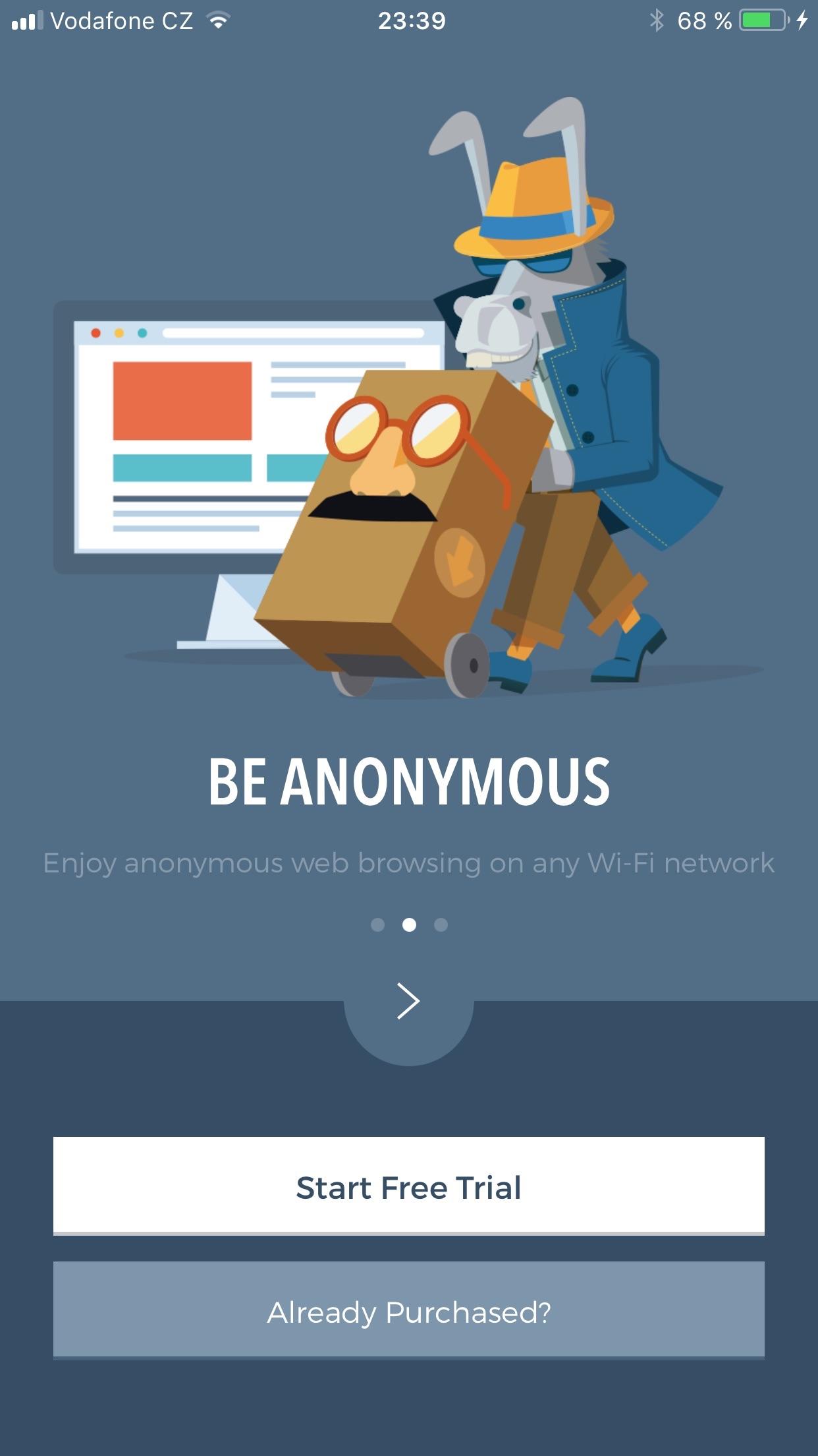 Hide My Ass! VPN Screenshot