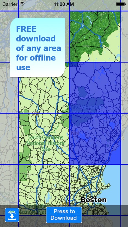 Aqua Map New Hampshire NH Lakes - Nautical Charts screenshot-4