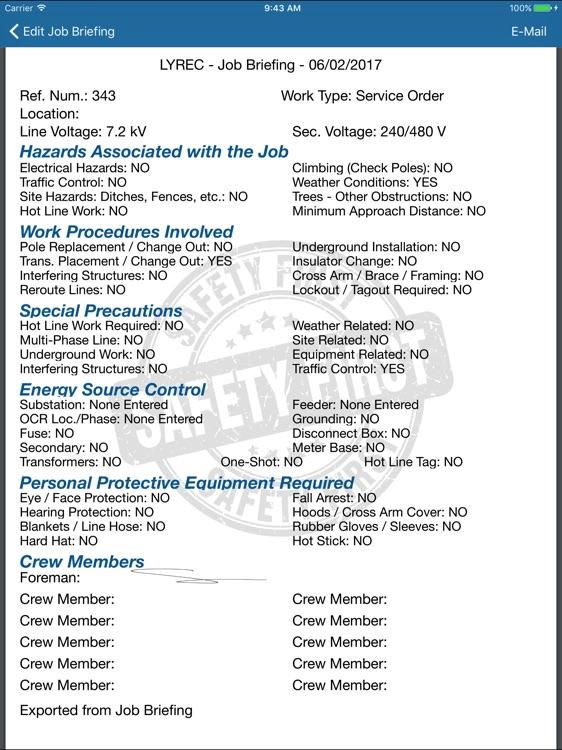 LYREC Job Briefing screenshot-3