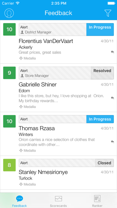 Medallia Mobile 2 Screenshot