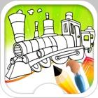поезд игры - поезд раскраски icon