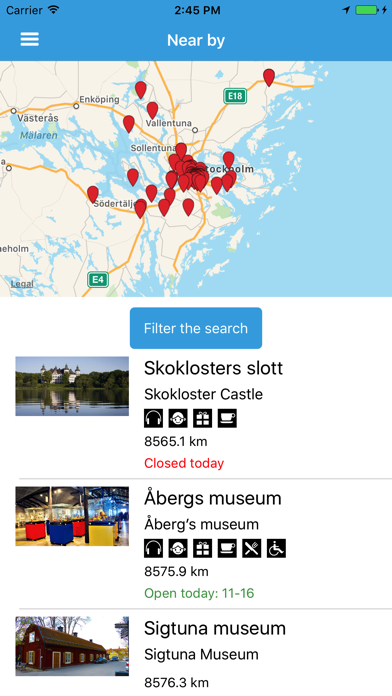 Stockholm museums screenshot two