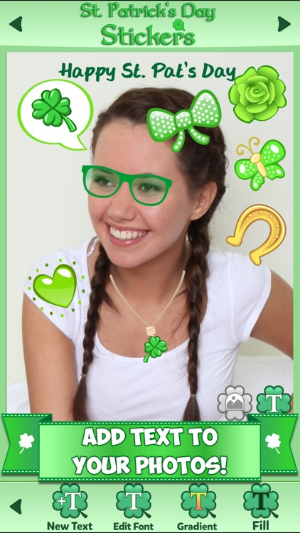 St. Patrick's Day Stickers: Holiday Sticker Photo screenshot-3