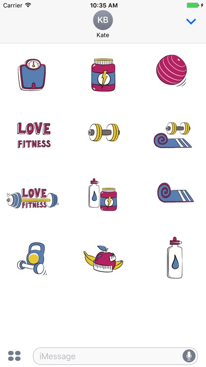 Animated Fitness Stickers