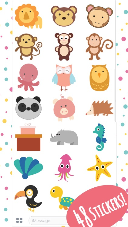 Super Cute Baby Animals Stickers screenshot-4
