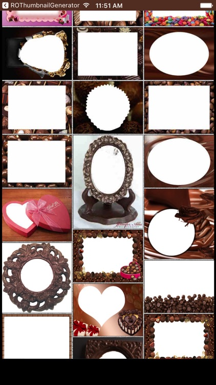 Chocolate Day Photo Frames & Picture Frame Effects