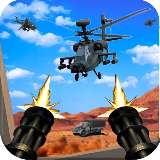 Gunship Helicopter Shoot War