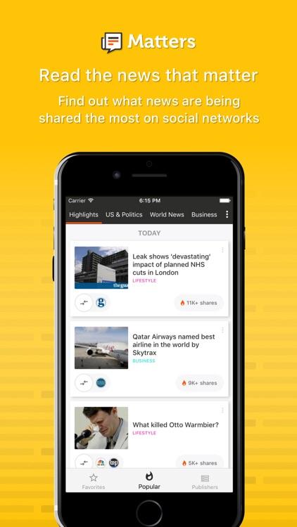 Matters - News aggregator