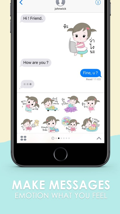 Jeejee Funlam Stickers for iMessage