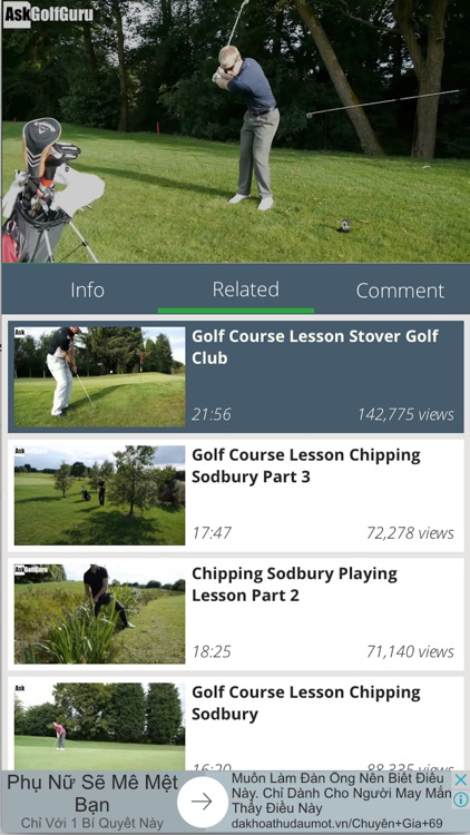 Golf tutorial and highlight - learning, practice